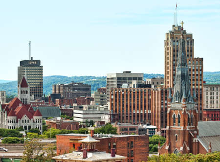 syracuse: view of the city of syracuse in upstate new york