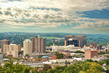 view of syracuse , new york in early autumn Stock Photo