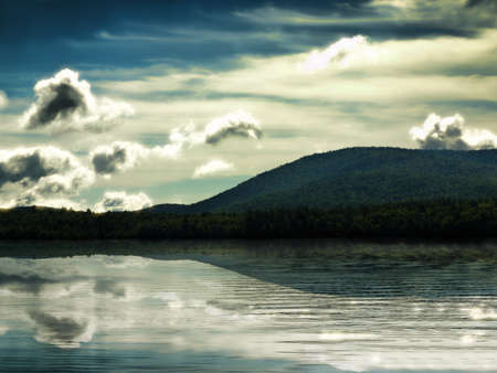 Pleasant Lake in the Adirondack Mountains