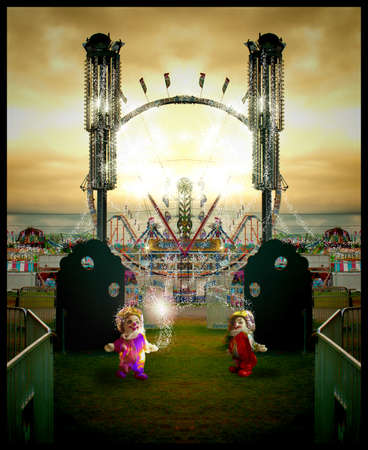 little clowns adding magic to a fair