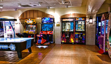 arcade games: arcade and gaming room at the Turning Stone Casino in Verona , New York
