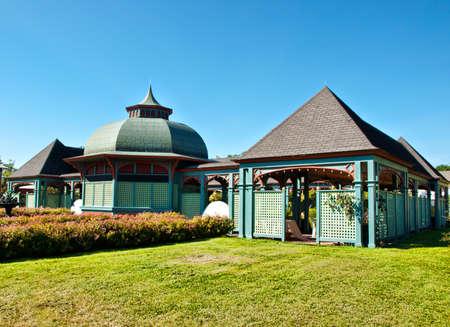 pavillion: formal gardens exterior with pavillion