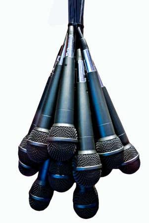 bundle of microphones