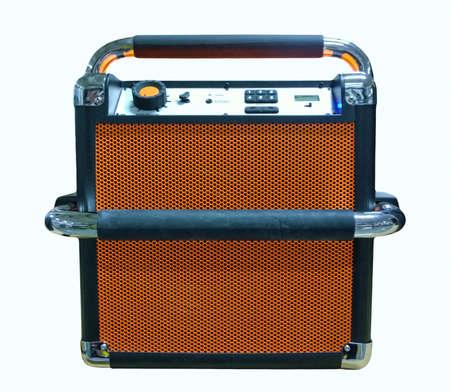 retro styled radio and cd player Stock Photo
