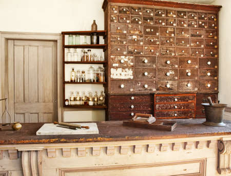 old fashioned medicine shop and pharmacy