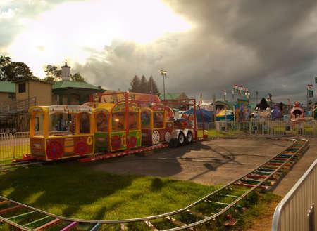 childrens train ride at a fair Editorial