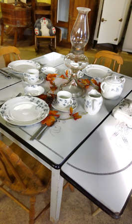 old fashioned rural kitchen table