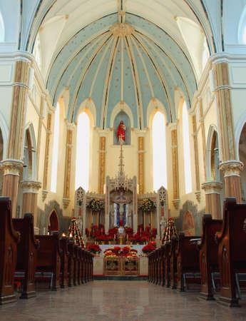 basillica: beautiful Basillica interior during the Christmas season Editorial