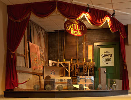 guild: Syracuse, New York, USA. December 3,2014. The old Guild Theater stage at the Erie Canal Museum in downtown Syracuse, New York