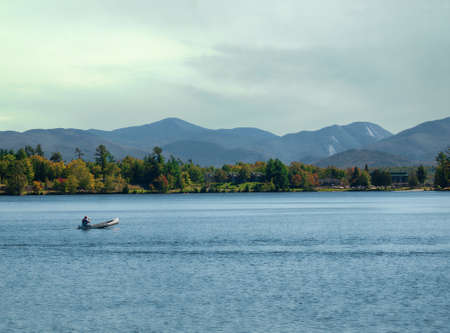 placid: view of Lake Placid, New York