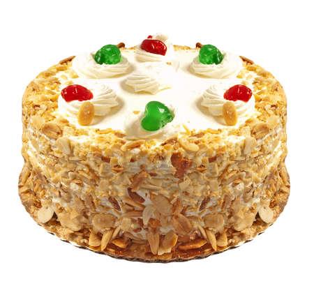 Italian Rum Cake on white background