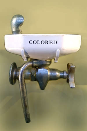 Washington, DC, USA. March 10,2014. Smithsonian African Art Museum. Segregated, coloreds only,  drinking fountain, circa 1875-1960.