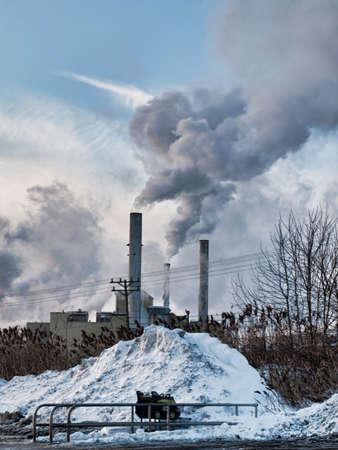 prescription drugs: smoke stacks of a prescription drugs manufacturing plant