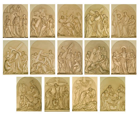 The Stations of the Cross Archivio Fotografico