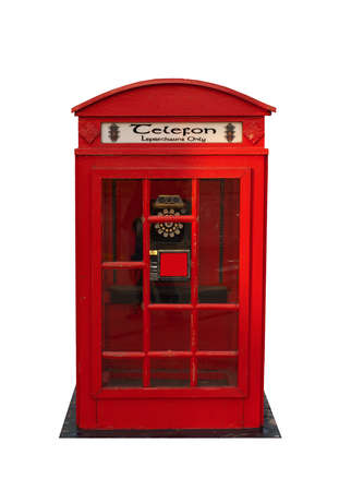 leprechaun telephone booth on white background