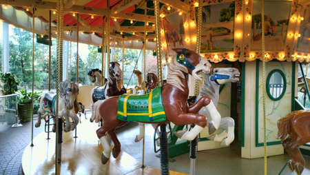 Rochester, New York, USA. October 24, 2015. The Strong National Museum of Play. old fahioned carousel Editorial