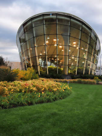 Rochester, New York, USA. November 5, 2016. View of the exterior of the Dancing Wings Butterfly Garden , a permanent display at the Strong Museum of Play in Rochester, New York.