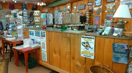 Speculator, New York, USA.  Speculator Department Store. Rustic , wilderness style goods