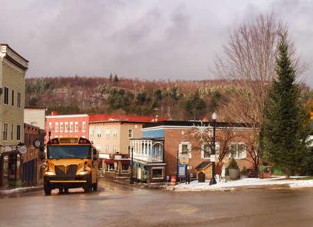 Saranac Lake , New York, USA. January 19, 2017. The beautiful small village of Saranac Lake, New York located in the Adirondack State Park in wintertime Editorial