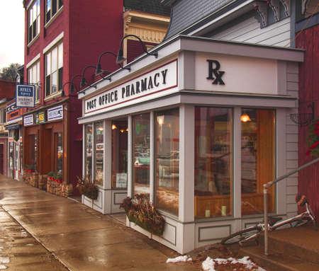 Saranac Lake , New York, USA. January 19, 2017. The Post Office Pharmacy  in downtown Saranac Lake, New York