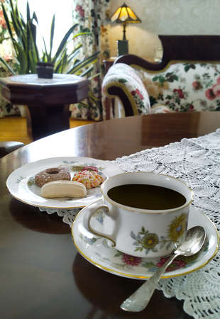 tea or coffee and cookies in the morning