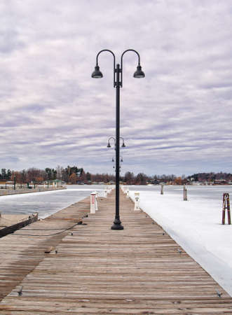 Public dock in Clayton, New York