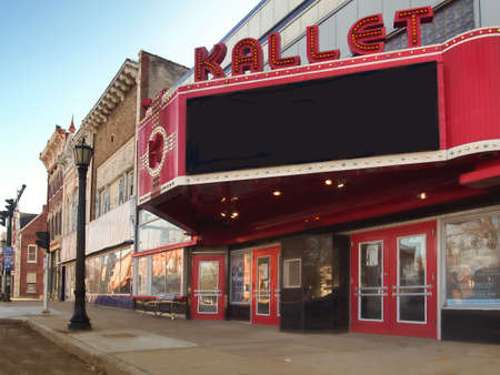 Clayton, New York, USA. March 29, 2017 . The Kallet Theater and Conference Center in downtown Clayton, New York on the shores of the Saint Lawrence River Editorial