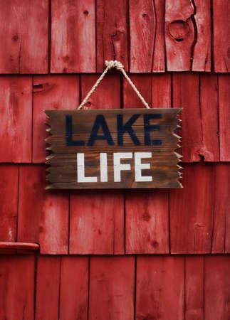Lake life sign Stock Photo