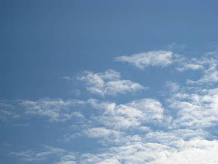 light  fluffy clouds