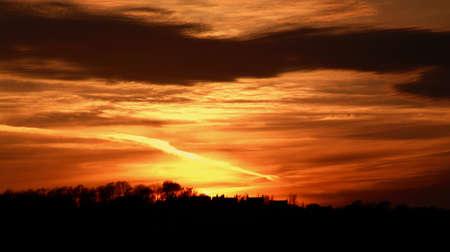 nighttimes: Orange sunset