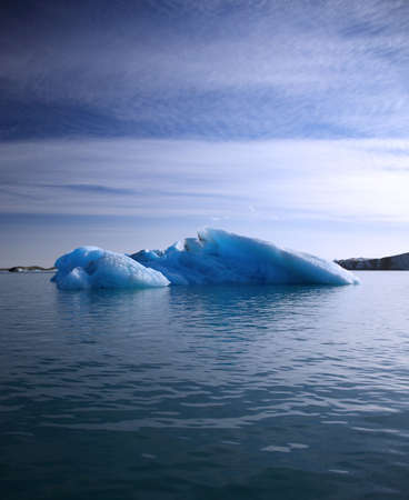 jokulsarlon: Blue iceberg floating on Jokulsarlon lagoon, Iceland Stock Photo