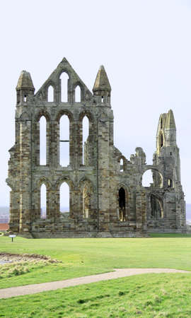 whitby: Historical Whitby Abbey ruins, North Yorkshire Stock Photo
