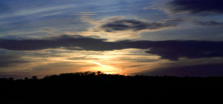 nighttimes: A blaze of colour from a sunset over Leeds West Yorkshire