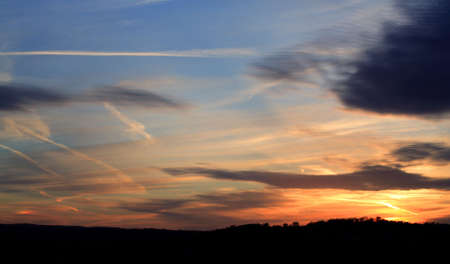 nighttimes: Vapours and clouds within a stunning sunset over Leeds