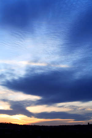 nighttimes: Amazing abstract sunset over Leeds West Yorkshire