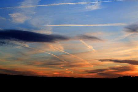 nighttimes: Amazingly colourful sunset over Leeds West Yorkshire