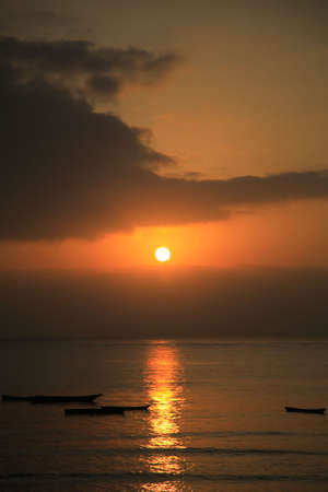 Sunrise over the Indian Ocean, Mombassa, Kenya, Africa photo