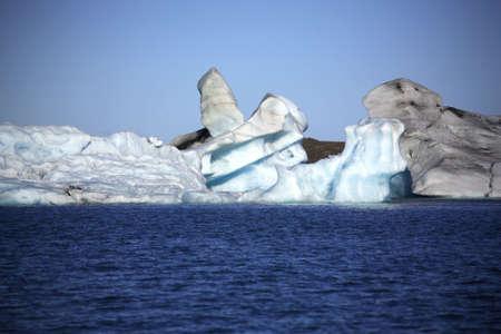 The shapes made by icebergs Jokulsarlon lagoon Iceland photo