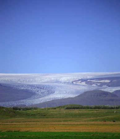 land slide: Vatnajokull Glacier Iceland Stock Photo