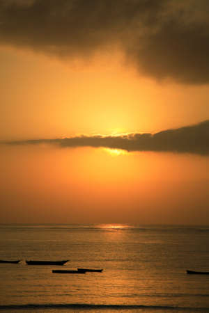Early morning sunrise Mombassa beach Africa photo