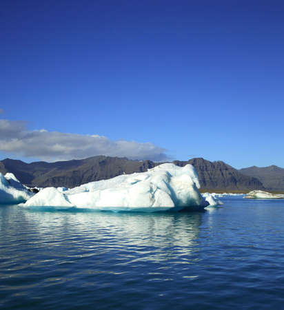 Iceberg floating on Jokulsarlon lagoon Iceland photo