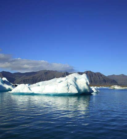 Iceberg floating on Jokulsarlon lagoon Iceland photo