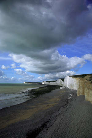 The beach at Birling Gap Eastdean England photo