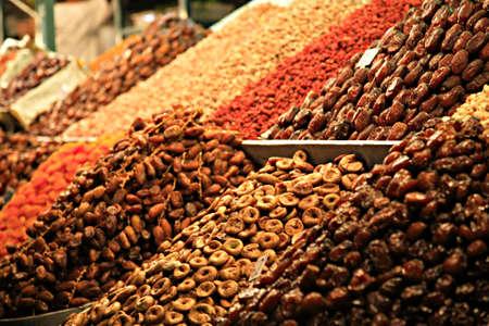 souk: A food stall in a Marrakech Souk