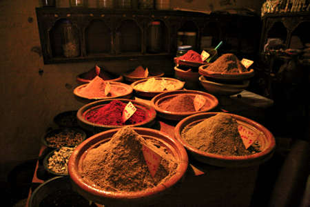 Traditional spice shop in Moroccan Medina