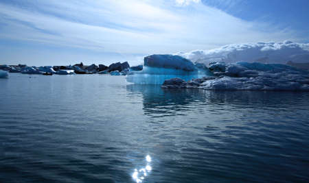 jokulsarlon: Beautiful blue iceberg on Jokulsarlon lagoon Iceland Stock Photo