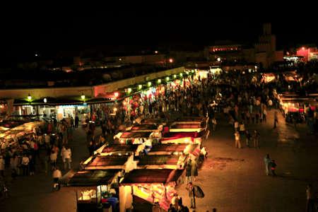 Atmospheric Marrakech at night