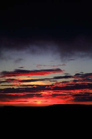 nighttimes: Stunning Icelandic sunset over Snaefellsnes Peninsula