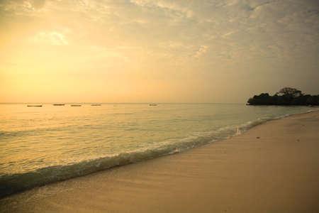 Mombasa shoreline at sunrise Kenya Africa photo