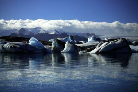 Icebergs and glaciers Jokulsarlon lagoon Iceland Stock Photo - 823525